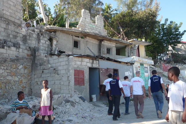 Image of Haiti earthquake destruction