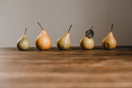 5 pears in a row