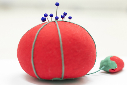 pin cushion alluding to data being reported to the clinician