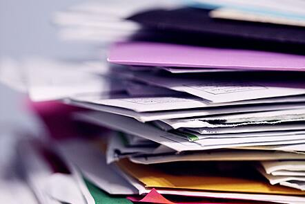 Stack of research papers