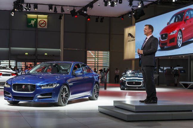 Jaguar Land Rover press conference the 2014 Paris Motor Show.