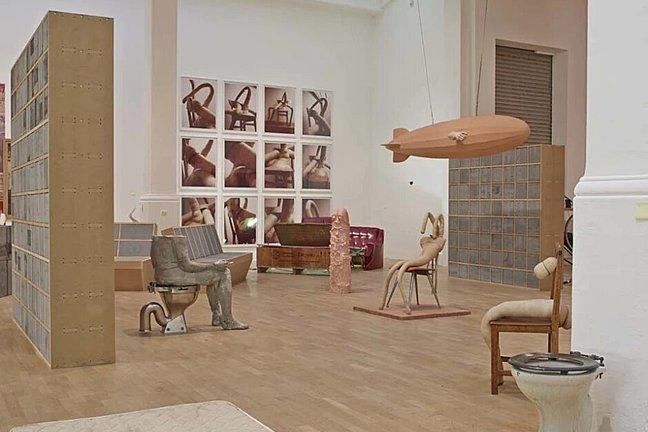 Sarah Lucas Exhibition at the Whitechapel Gallery, London