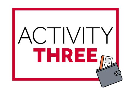Text: Activity THREE