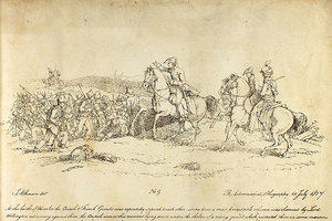 The Battle of Waterloo sketch by J Atkinson