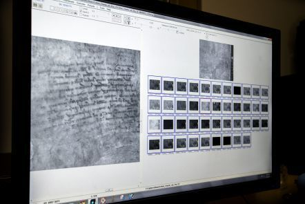 The results of multi-spectral imaging photos taken of the damaged Magna Carta manuscript owned by the British Library.
