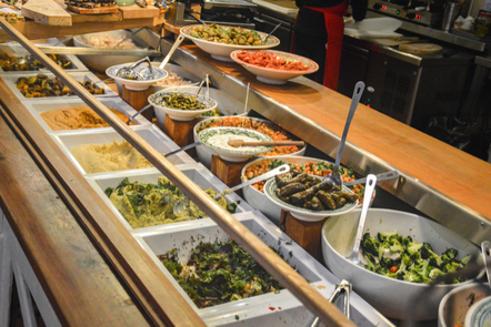 Food platters in an Irish restaurant