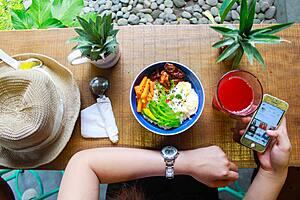 Healthy Food setting.