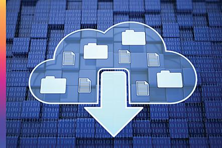 Cloud download concept