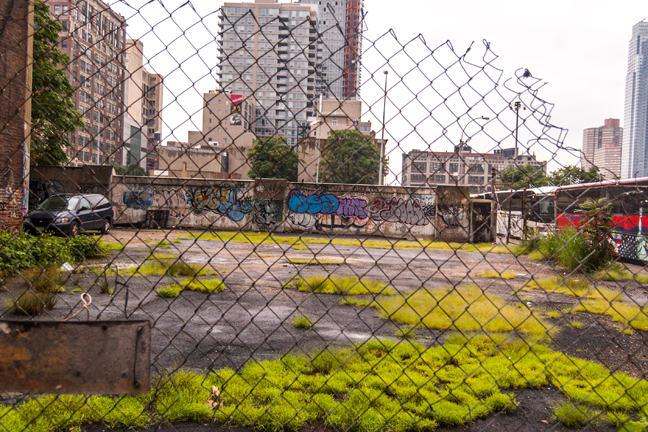 Run down inner city area