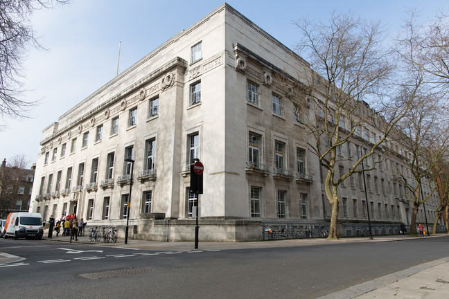 The London School of Hygiene & Tropical Medicine on Keppel Street, London, UK
