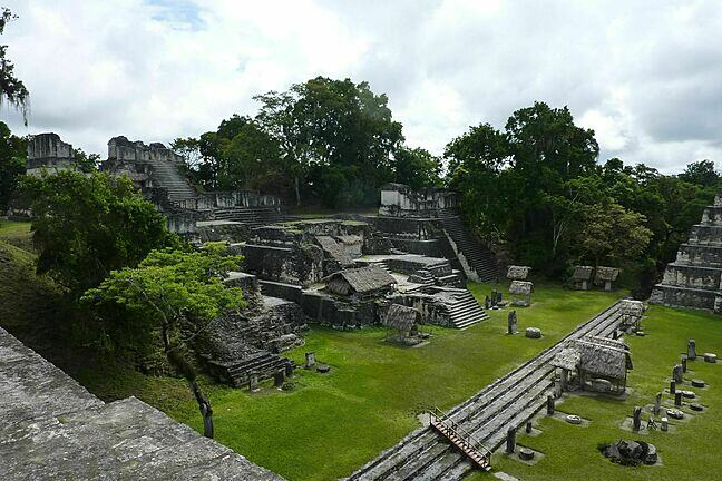 An image of Tikal, a Mayan city in today's Guatemala