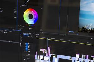Desktop image of video editing software