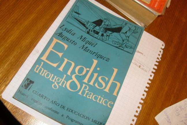 Book entitled 'English through Practice'