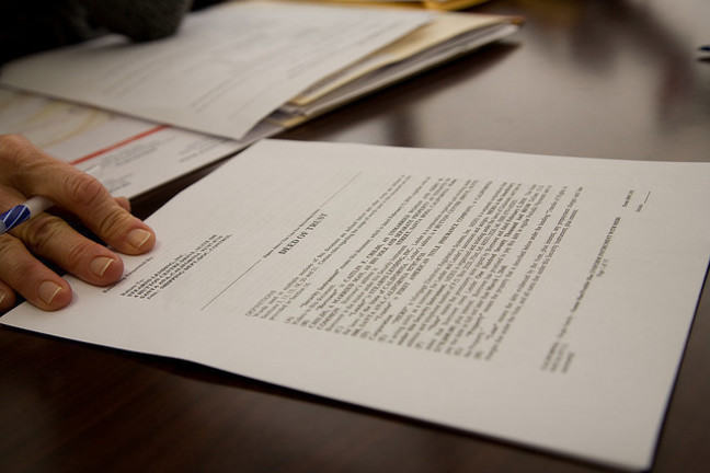 Legal Contract on a Table