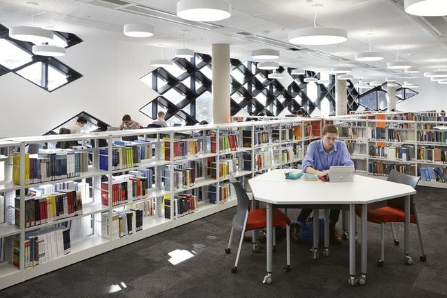 The engineering library at The Diamond in Sheffield