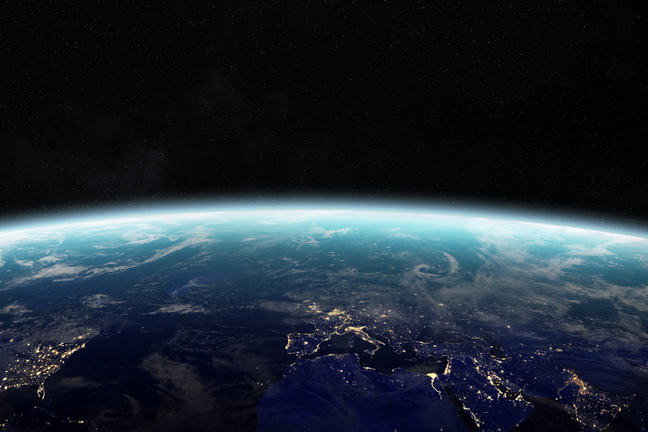 An image of the world taken from space