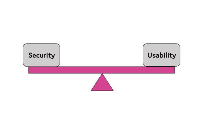 A see saw representing the tension in balancing security and usability.