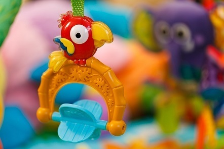 Colourful baby toy