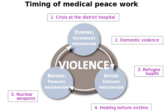 Model: Case 5 and timing of Medical Peace Work