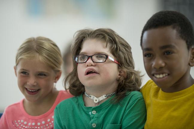 three diverse children