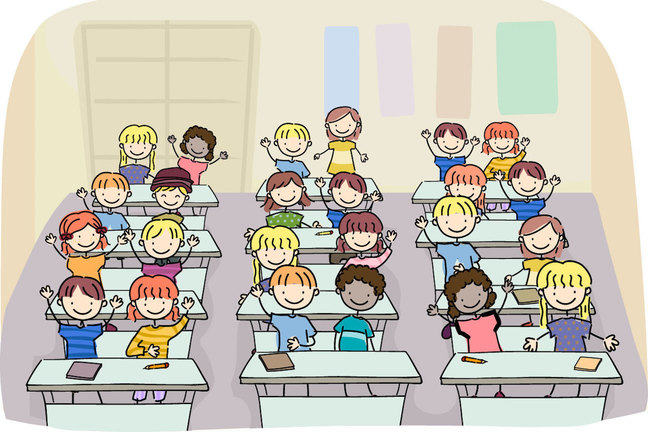 Graphic image of children in a classroom