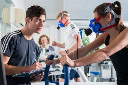 Two sports science students