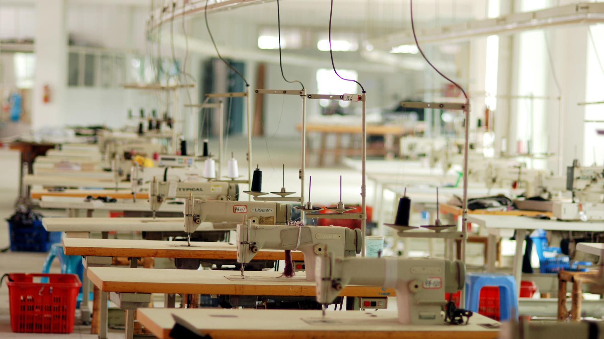 An empty garment factory