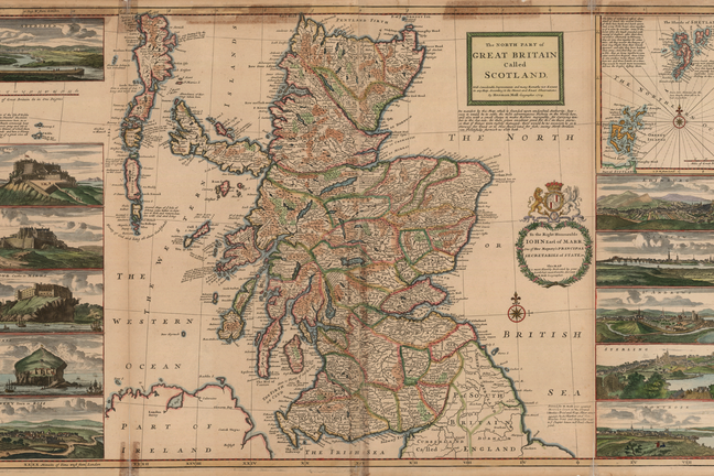 Herman Moll: The north part of Great Britain called Scotland: with considerable inprovements and many remarks not extant in any map, c.1726 (originally published 1714)