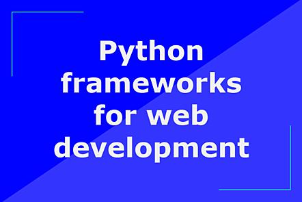 Python frameworks for web development title image