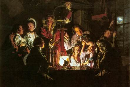 Joseph Wright of Derby, An Experiment on a Bird in the Air Pump, 1768.