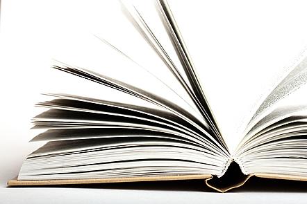 An open book.