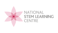 Pink flower logo with text 'NATIONAL STEM LEARNING CENTRE'