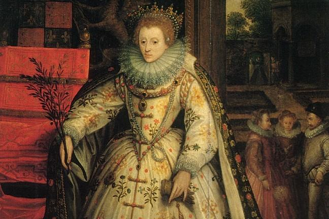 Queen Elizabeth by Marcus Gheeraerts possibly at Wanstead Gardens