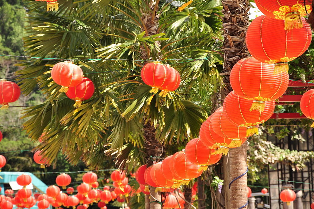 Red lanterns Chinese New Year in Malaysia