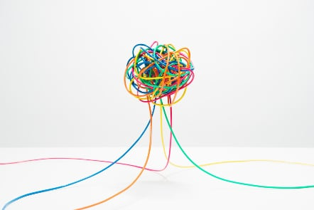 Ball of colourful wires