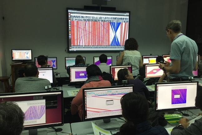 Leaners and Educators finding and exploring genomic data on computers together