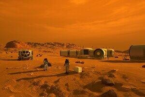 Astronauts exploring on the moon