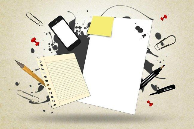 A collection of stationary items