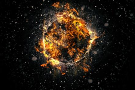 Image of an exploding supernova
