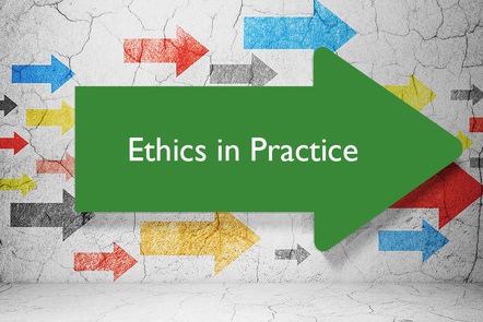 ethics in practice on an arrow