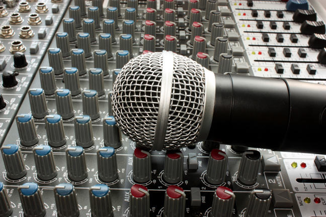 Microphone with mixer