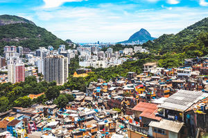 Slum township in South America.
