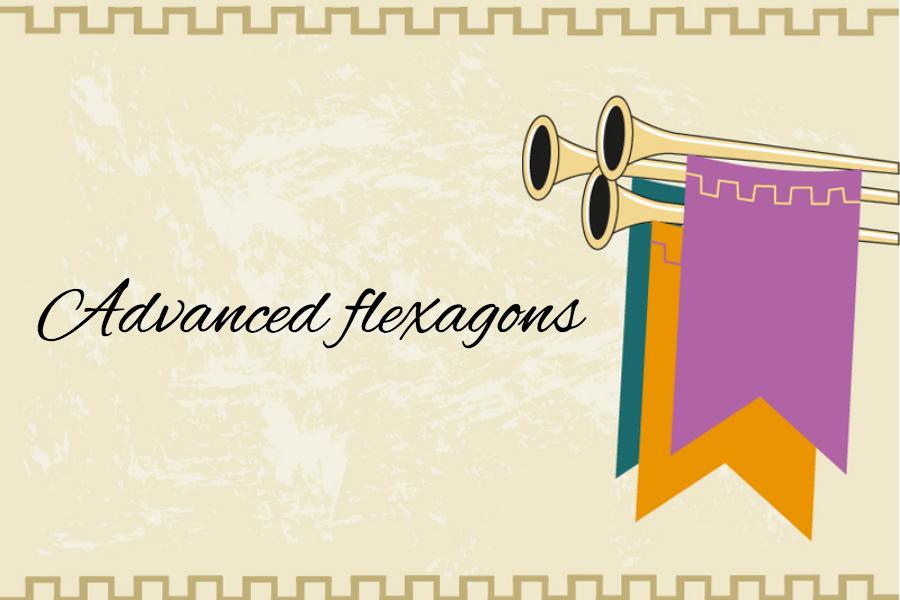 Banner with Advanced Flexagons written on it