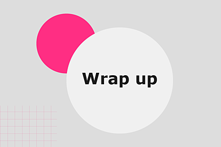 Wrap up graphic title card