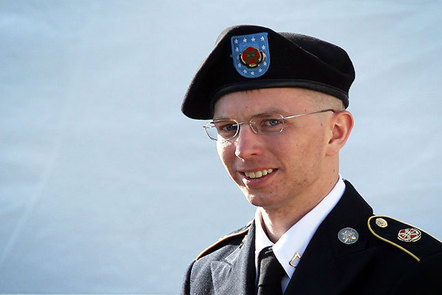 A photograph of Chelsea Manning in uniform.