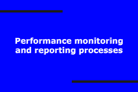 Performance monitoring and reporting processing