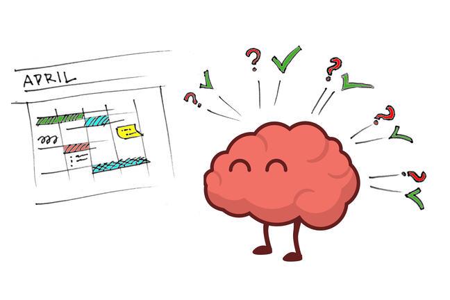 Cartoon brain looking at planning