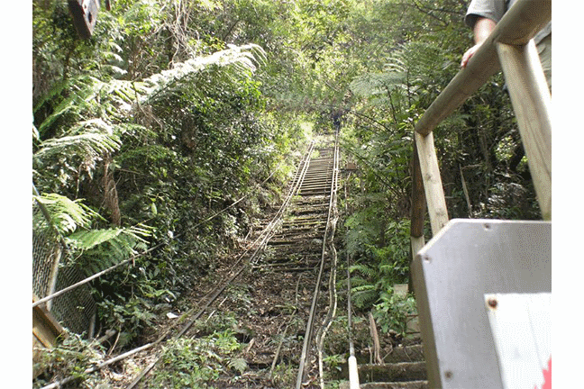 Railway going up a mountain.