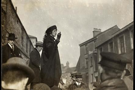 Nancy Astor campaigning
