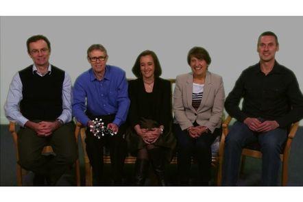 Photo of Dan Malone, David Manallack, Kirstie Galbraith, Lyn Clearihan and Ian Larson